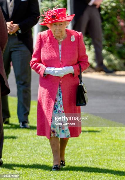 Queen Elizabeth II attends Royal Ascot Day 3 at Ascot Racecourse on June 21, 2018 in Ascot, United Kingdom.