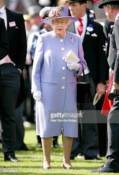 HM Queen Elizabeth II attends Royal Ascot Ladies Day at Ascot Racecourse on June 17 2010 in Ascot England