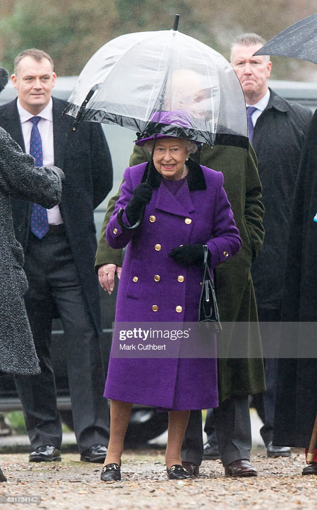 Queen Attends Sunday Church Service at St Mary the Virgin : News Photo