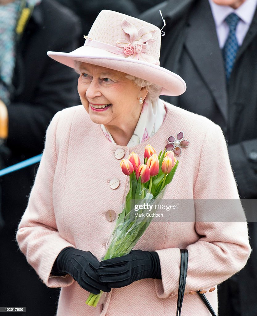 The Queen & Duke Of Edinburgh Attend Sunday Service At West Newton : News Photo
