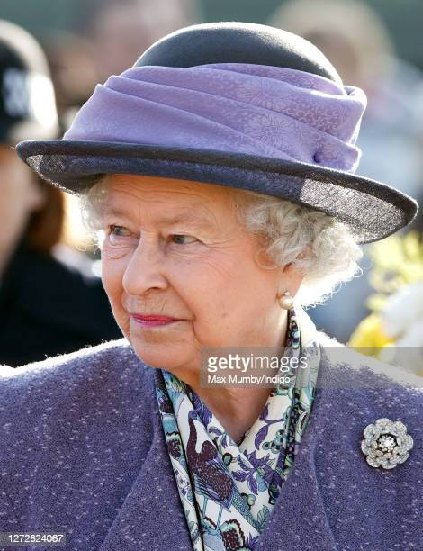 Queen Elizabeth II attends Sunday service at the church of St Peter and St Paul, West Newton on February 4, 2007 in King's Lynn, England.