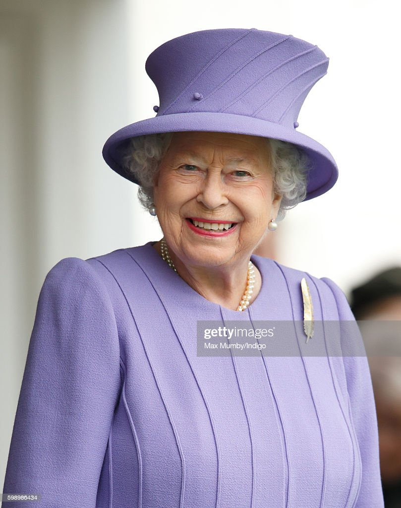 Queen Elizabeth II attends the 2016 Braemar Highland Gathering at The Princess Royal and Duke of Fife Memorial Park on September 3, 2016 in Braemar, Scotland. There has been an annual gathering at Braemar, in the heart of the Cairngorms National Park, for over 900 years. The current gathering, in the form of a Highland Games and run by the Braemar Royal Highland Society (BRHS), takes place on the first Saturday in September and sees competitors in Running, Heavy Weights, Solo Piping, Light Field and Solo Dance watched by around 16000 spectators.