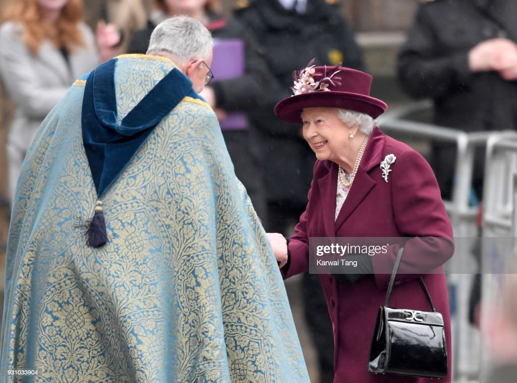 Queen Elizabeth II attends the 2018 Commonwealth Day service at Westminster Abbey on March 12, 2018 in London, England.