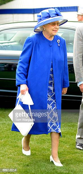 Queen Elizabeth II attends the Al Habtoor Royal Windsor Cup Final at Guards Polo Club on June 21, 2009 in Egham, England.