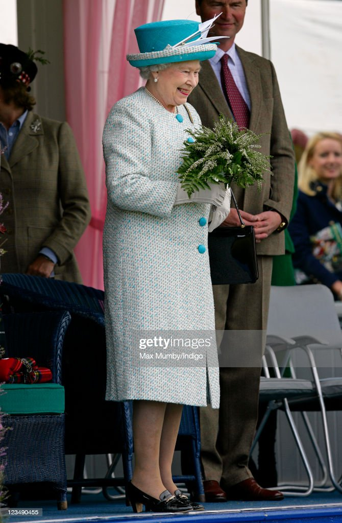 Queen Elizabeth II attends the annual Braemar Gathering and Highland Games at The Princess Royal and Duke of Fife Memorial Park on September 3, 2011 in Braemar, Scotland.