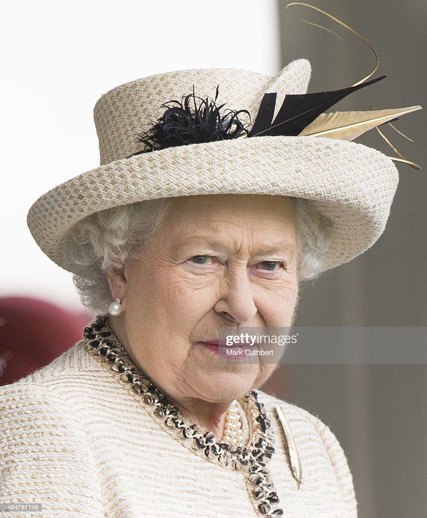 Queen Elizabeth II attends the annual Braemar Highland Games on September 6, 2014 in Braemar, Scotland.