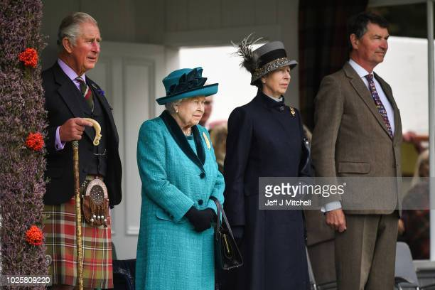 Queen Elizabeth II attends the Annual Braemar Highland Gathering on September 1 2018 in Braemar Scotland The Braemar Gathering is the most famous of...
