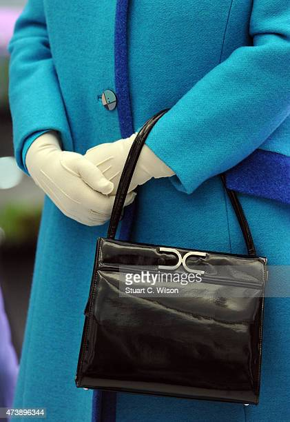 Queen Elizabeth II attends the annual Chelsea Flower show at Royal Hospital Chelsea on May 18 2015 in London England