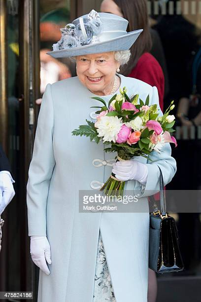 Queen Elizabeth II attends the Centenary Annual Meeting of The National Federation Of Women's Institute at Royal Albert Hall on June 4 2015 in London...