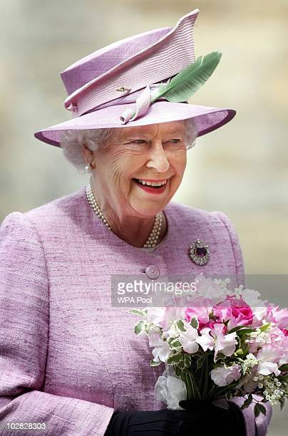 Queen Elizabeth II attends the Ceremony Of The Keys at the Palace of Holyroodhouse on July 12, 2010 in Edinburgh, Scotland. The Queen received the...