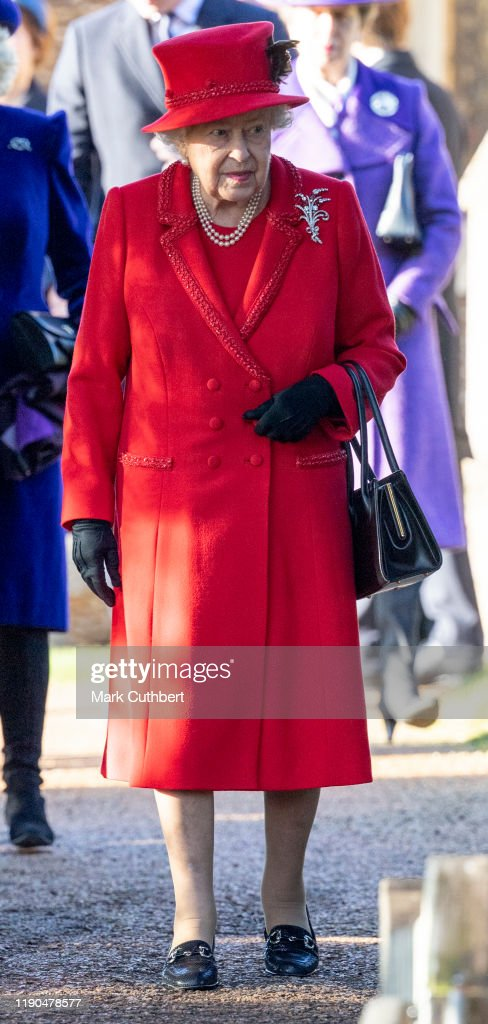 The Royal Family Attend Church On Christmas Day : Foto jornalística