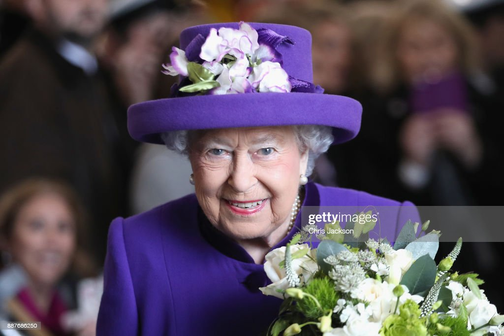 The Queen And The Princess Royal Visit HM Naval Base In Portsmouth : News Photo