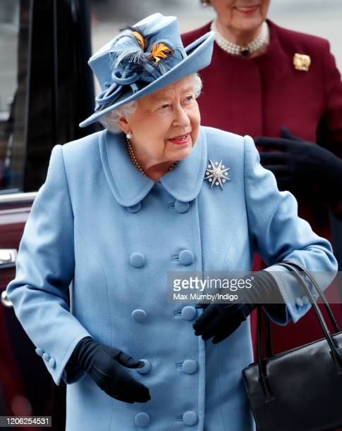 Queen Elizabeth II attends the Commonwealth Day Service 2020 at Westminster Abbey on March 9, 2020 in London, England. The Commonwealth represents...