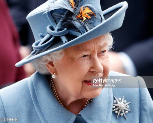 Queen Elizabeth II attends the Commonwealth Day Service 2020 at Westminster Abbey on March 9 2020 in London England The Commonwealth represents 24...
