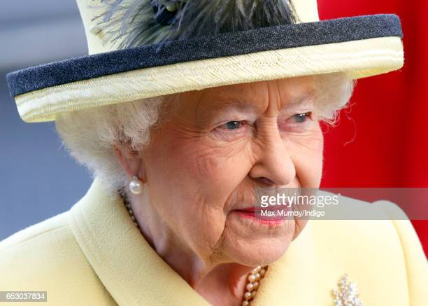 Queen Elizabeth II attends the Commonwealth Day Service at Westminster Abbey on March 13 2017 in London England