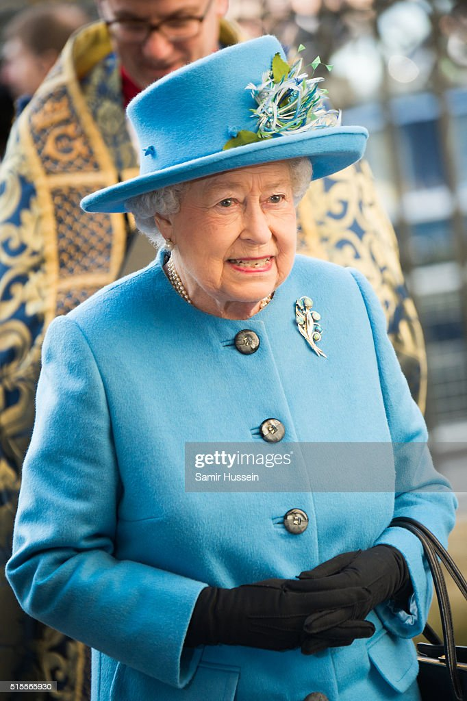Queen Elizabeth II attends the Commonwealth Observance Day Service on March 14, 2016 in London, United Kingdom. The service is the largest annual inter-faith gathering in the United Kingdom and will celebrate the Queen's 90th birthday. Kofi Annan and Ellie Goulding will take part in the service.