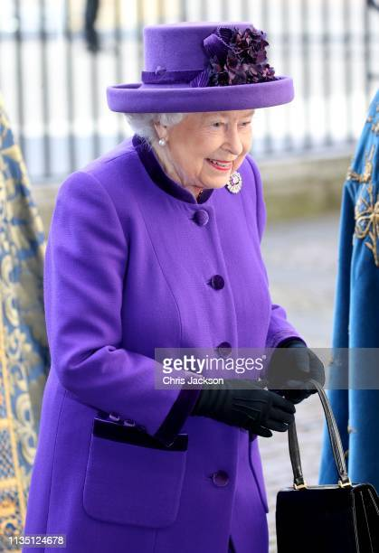 Queen Elizabeth II attends the Commonwealth Service on Commonwealth Day at Westminster Abbey on March 11 2019 in London England The Commonwealth...