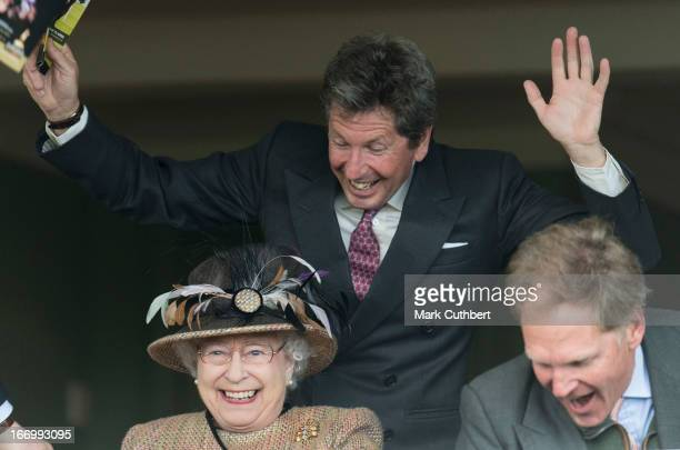 Queen Elizabeth II attends The Dubai Duty Free Raceday at Newbury Racecourse where she watched her horse Sign Manual win Race 5 The Dreweatts...