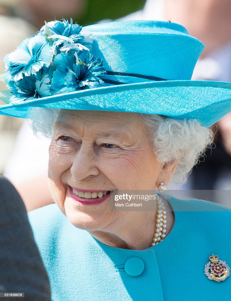 The Queen Attends The Duke Of Lancaster's Regimental Memorial Dedication : News Photo