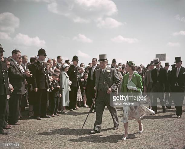 Queen Elizabeth II attends the Epsom Derby 4th June 1954