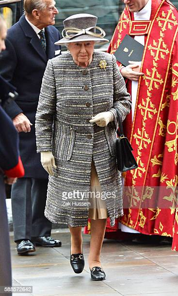 Queen Elizabeth II attends the inauguration of the tenth General Synod at Westminster Abbey in London