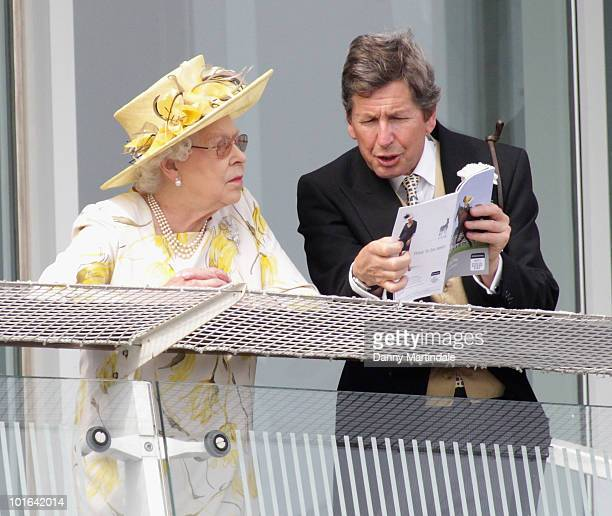 Queen Elizabeth II attends the Investec Derby Day at Epsom Downs on June 5, 2010 in Epsom, England.