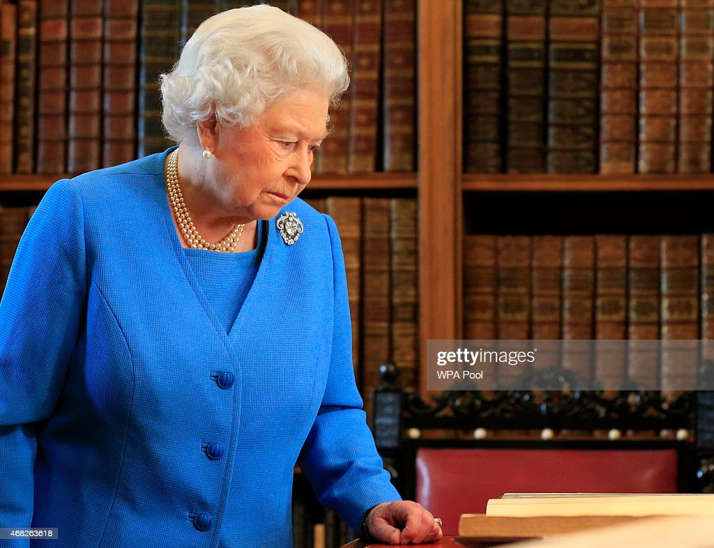 The Queen Attends George III Project Launch In Windsor : News Photo