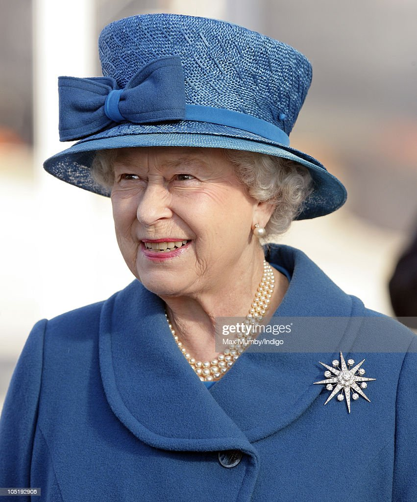 Queen Elizabeth Names New Cunard Vessel - Ceremony : News Photo