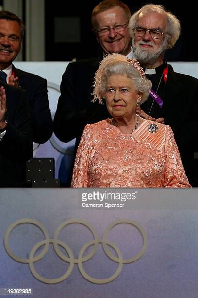 Queen Elizabeth II attends the Opening Ceremony of the London 2012 Olympic Games at the Olympic Stadium on July 27, 2012 in London, England.