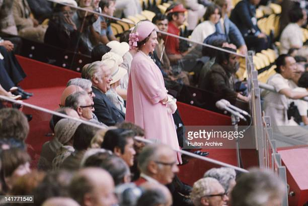 Queen Elizabeth II attends the opening ceremony of the Summer Olympics in Montreal Canada 17th July 1976