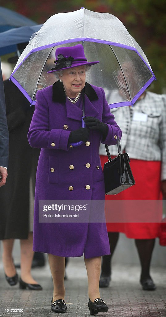 Queen Elizabeth II And The Duke Of Edinburgh Open The Newly Developed Jubilee Gardens : News Photo