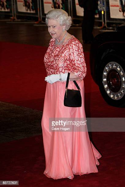 Queen Elizabeth II attends the premiere of 'A Bunch of Amateurs' at the Odeon cinema, Leicester Square on November 17, 2008 in London, England.