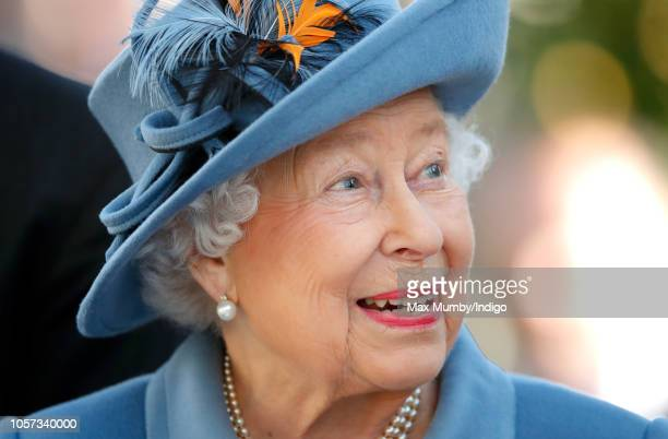 Queen Elizabeth II attends the QIPCO British Champions Day at Ascot Racecourse on October 20, 2018 in Ascot, United Kingdom.