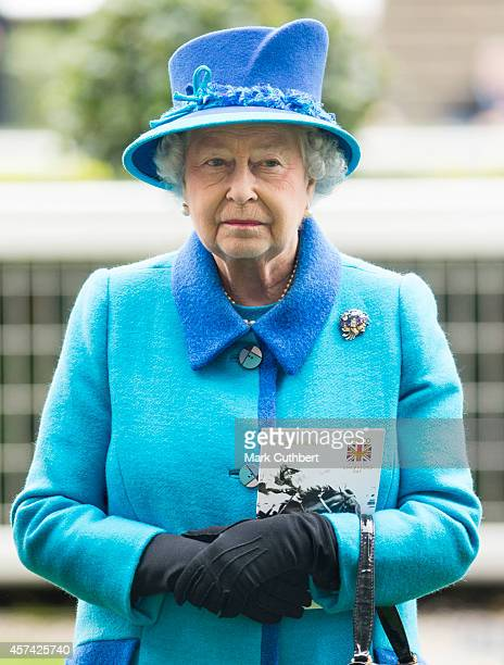 Queen Elizabeth II attends the QIPCO British Champions Day at Ascot Racecourse on October 18, 2014 in Ascot, England.