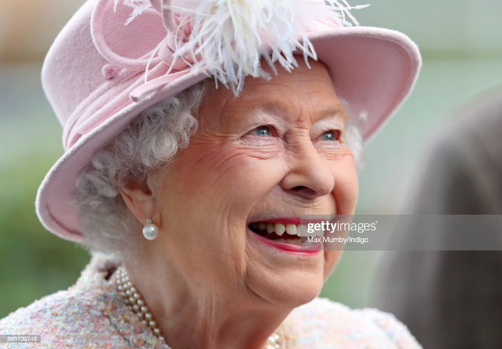 Queen Elizabeth II attends the QIPCO British Champions Day at Ascot Racecourse on October 21, 2017 in Ascot, England.