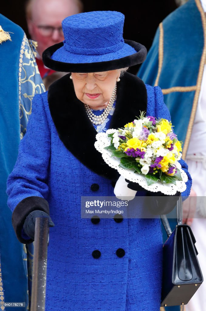 Royal Maundy Service At St George's Chapel Windsor : News Photo