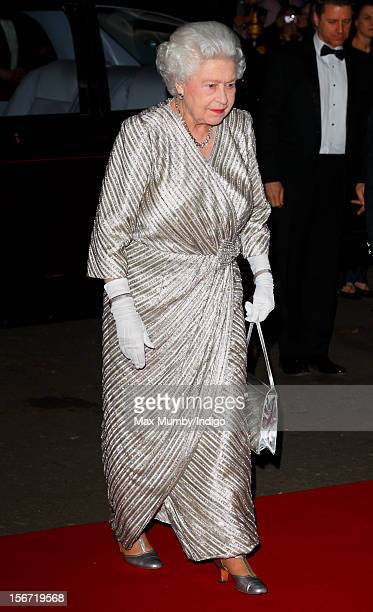Queen Elizabeth II attends the Royal Variety Performance in the 100th anniversary year at the Royal Albert Hall on November 19 2012 in London England