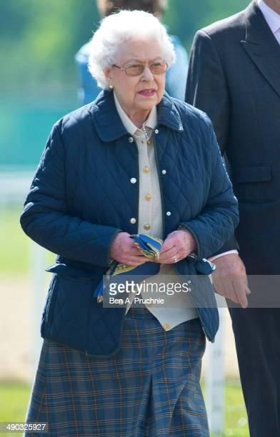 Queen Elizabeth II attends the Royal Windsor Horse Show at Home Park on May 14 2014 in Windsor England