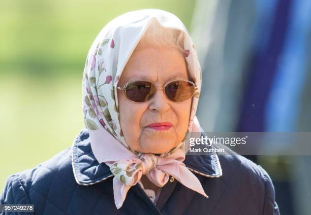 Queen Elizabeth II attends the Royal Windsor Horse Show at Home Park on May 11 2018 in Windsor England