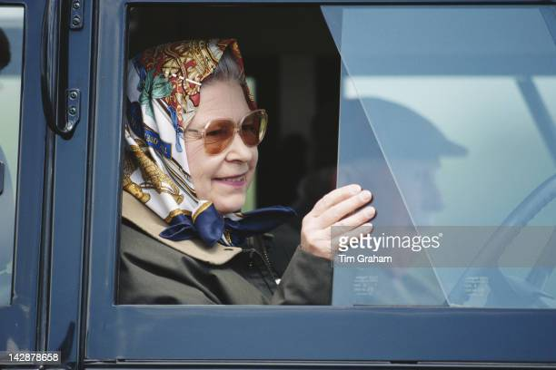 Queen Elizabeth II attends the Royal Windsor Horse Show at Windsor May 1995