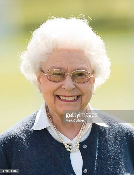 Queen Elizabeth II attends the Royal Windsor Horse show in the private grounds of Windsor Castle on May 13 2015 in Windsor England