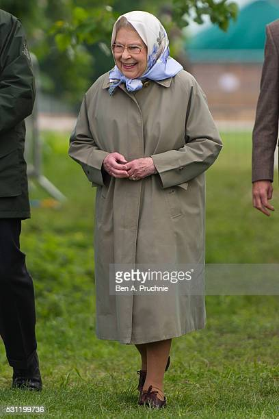 Queen Elizabeth II attends The Royal Windsor Horse Show on May 13, 2016 in Windsor, England.