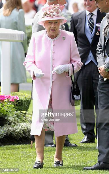 Queen Elizabeth II attends the second day of Royal Ascot at Ascot Racecourse on June 15 2016 in Ascot England