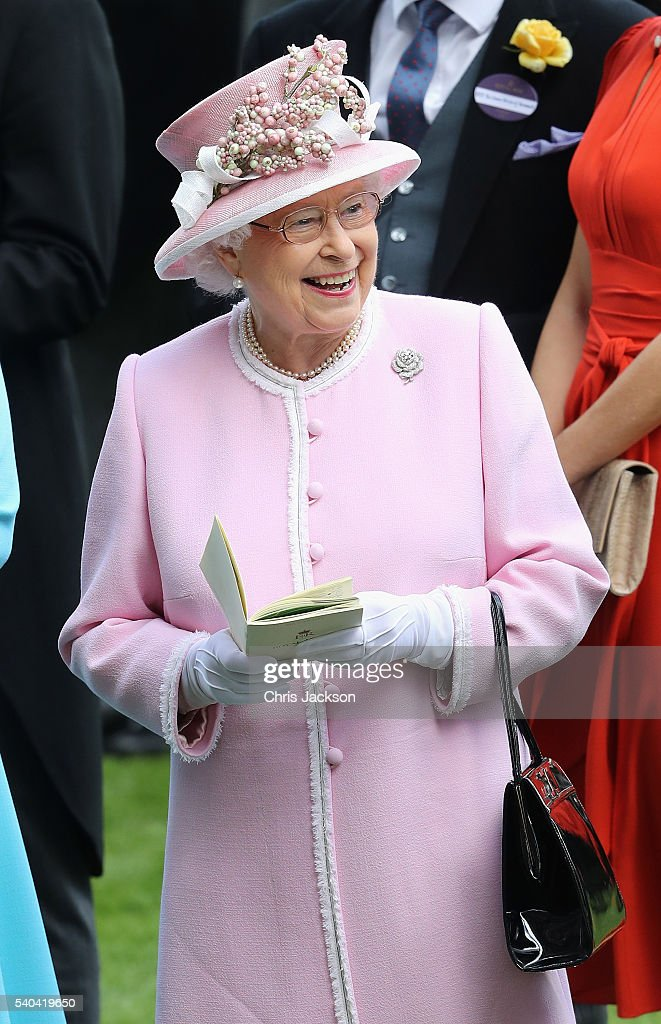 Queen Elizabeth II attends the second day of Royal Ascot at Ascot Racecourse on June 15, 2016 in Ascot, England.