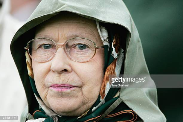 Queen Elizabeth II attends the second day of Royal Windsor Horse Show on May 11, 2007 in Berkshire, England.