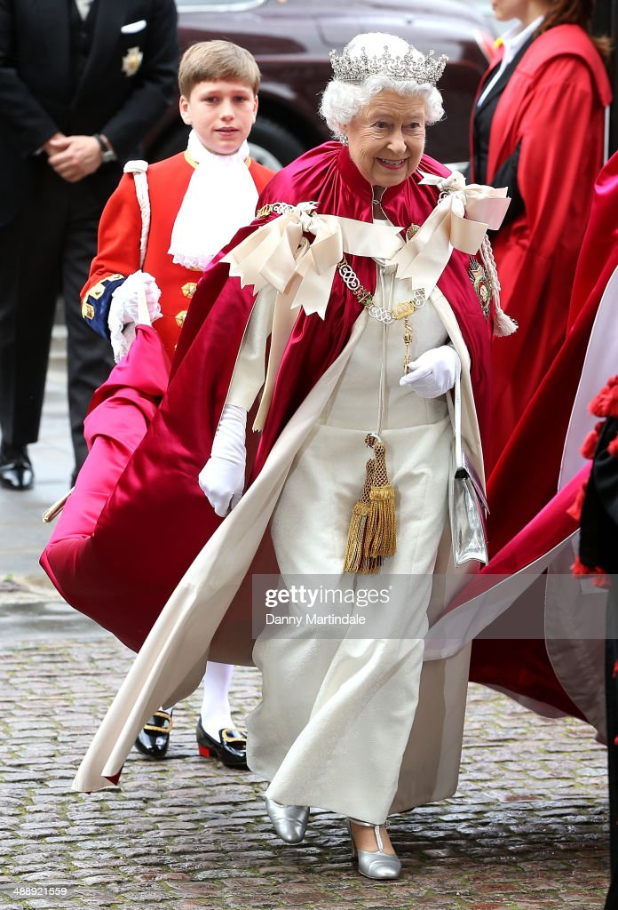 Queen Elizabeth II attends the Service of the Order of Bath at Westminster Abbey on May 9, 2014 in London, England.