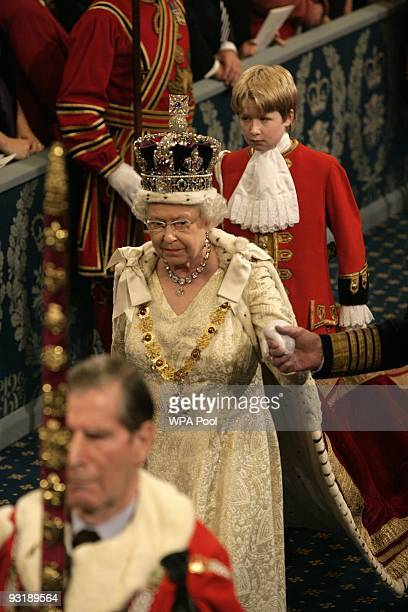 Queen Elizabeth II attends the State Opening of Parliament on November 18 2009 in London England Queen Elizabeth II unveiled the Government's...