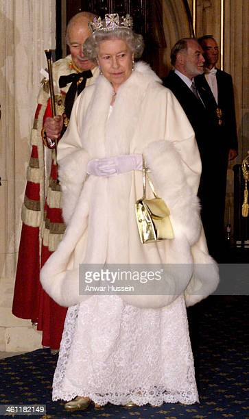 Queen Elizabeth II attends the State Opening of Parliament on November 24, 1998 in London, England .
