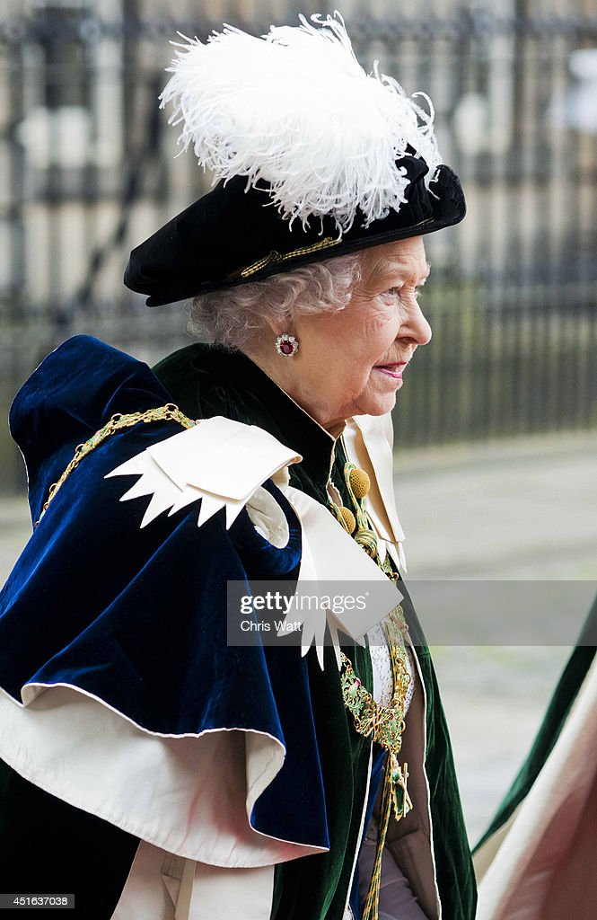 The Queen Attends The Thistle Service At St Giles Cathedral : News Photo