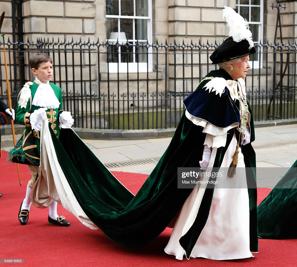 Royals Attend Order of the Thistle Service In Edinburgh : News Photo